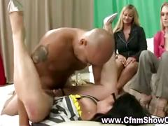 Cfnm guy gets sucked and fucked in front of girls