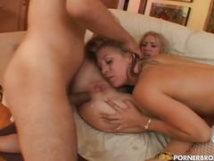 Nasty blonde whores leah luv and allison pierce sharing huge cock