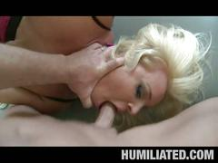 Blonde babe humiliated in this s&m scene