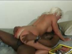 This blonde likes a huge black cock