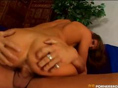 Busty brunette babe huge cock riding adventure