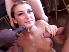 Young slut loves to suck several dicks