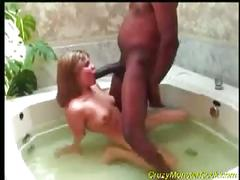 Jacuzzi fuck by a blonde twat and a big, black prick