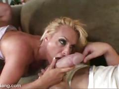 Huge tit babe fucks two humongous cocks