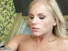 old & young, barbie white, deepthroat, face fucking, gorgeous, old man young woman, platinum blonde