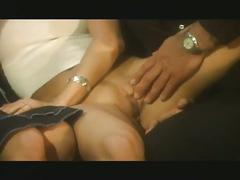 Amazing threesome with two blondes fucking and sucking