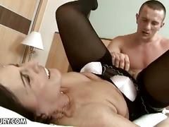 pornstar, margo t., big cock, hairy pussy, mature amateur, missionary, old woman young man, pantyhose, reverse cowgirl