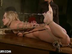 Mistress kathia teaches lesson to hot lesbian