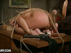 Mistress kathia teaches lesson to hot lesbian