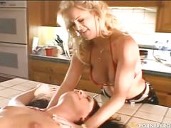 Julian st-jox fucks two babes in the kitchen