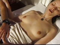Massive boner hammering a hairy pussy