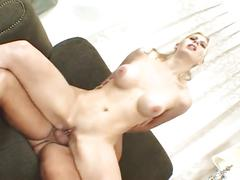 Blonde milf loves to be fucked by a big cock