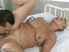 Busty momma takes on this nasty doctor