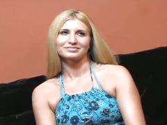 Interview her sweet pussy before fucking