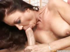Sweet milf seduces young man to fuck
