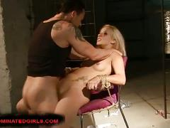Sweet blonde candy bounded and abused