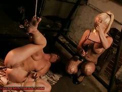 bdsm, big tits, blonde, lesbian, pornstar, red head, toys, katy parker, lee lexxus, bondage, busty, dildo, forced, mistress, slave, toying pussy