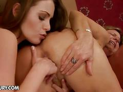 Hot bitches lick each others pussies