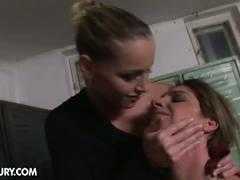 Nasty lesbian couple kathia nobili and bambi playing mistress slave fun