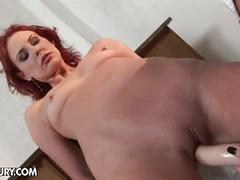 Tied up redhead fucked hard by mistress