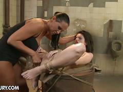Horny lesbian slave for nasty mistress