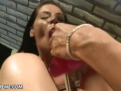 Hot lesbian pornstars learning things the hard way