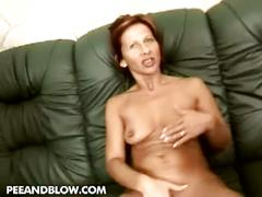 Milf cindy gets a golden shower after hardcore sex
