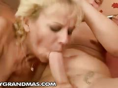 Horny grandma, lili gets her cunt pounded