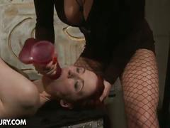 Mistress shows you some mouth and pussy plugging
