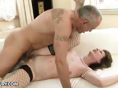 Horny mature couple in hardcore action