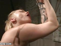 bdsm, big tits, blonde, lesbian, pornstar, toys, katy parker, steffie, bondage, dildo, forced, humiliation, mistress, painful, sadistic, slave, torture, toying pussy, whip
