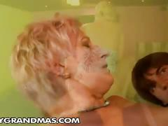 Horny granny yda is hot for grandson's young cock