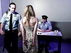 Blonde babe versus the bad cops @pros vs cons