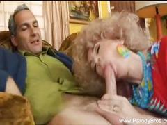 Mrs. roper gives a blowjob