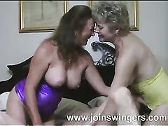 Mature threesome swingers intercourse