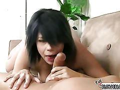 Brunette school girl shows pussy