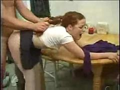 stockings, hardcore, milf, blowjob, redhead, pussylicking, pussyfucking, pigtail