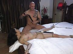 bdsm, babe, whipping, vibrator, face fuck, brunette, tattooed, rope bondage, sex and submission, kink, derrick pierce, vanessa sky