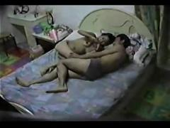 Chinese couple in hotel