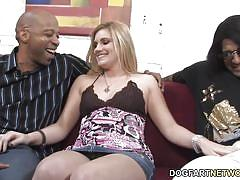 Hayden night interracial threesome