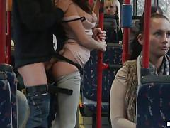 Rubbing that ass in the bus