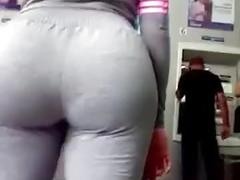 Huge ass in gray pants