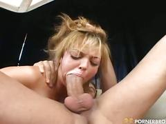 Rough sex for this young slut
