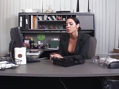 Horny big dick boss fucking huge tits brunette secretary