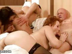 Kinky family foursome having hardcore sex