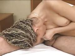 Braided slut fucked hard for sweet creampie