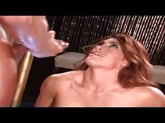 Sexy brunette has steamy hot sex on the bar