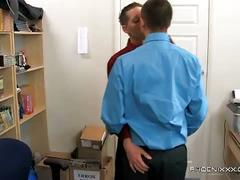 Wesley and ryan get some hard work done then fuck at the office