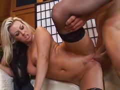 Sexy milf carolyn reece fucks in stockings