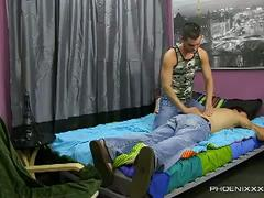 Jock julian smiles gets massage sucks fucks stud braden klien